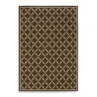 Oriental Weavers Caspian Brown 7-Foot 3/4-Inch x 10-Foot 3/4-Inch Indoor/Outdoor Rug