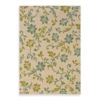 Oriental Weavers Caspian Ivory/Blue Floral 2-Foot 3-Inch x 7-Foot 6-Inch Indoor/Outdoor Rug