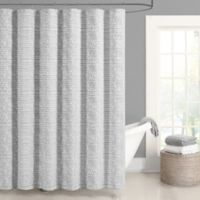 J. Queen New York™ Logan Shower Curtain in Silver
