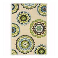 Oriental Weavers Caspian 2-Foot 5-Inch x 4-Foot 5-Inch Indoor/Outdoor Rug in Ivory