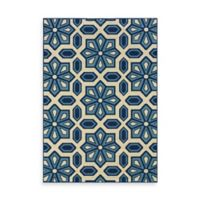 Oriental Weavers Caspian Crystal 7-Foot 10-Inch x 10-Foot 10-Inch Indoor/Outdoor Rug in Blue