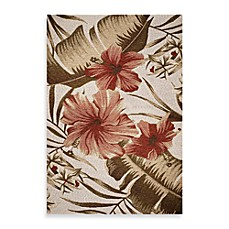 Kas Horizon Ivory Hibiscus Indoor Outdoor Rug Bed Bath