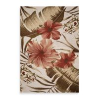 KAS Horizon Ivory Hibiscus 5-Foot 3-Inch x 7-Foot 7-Inch Indoor/Outdoor Rug