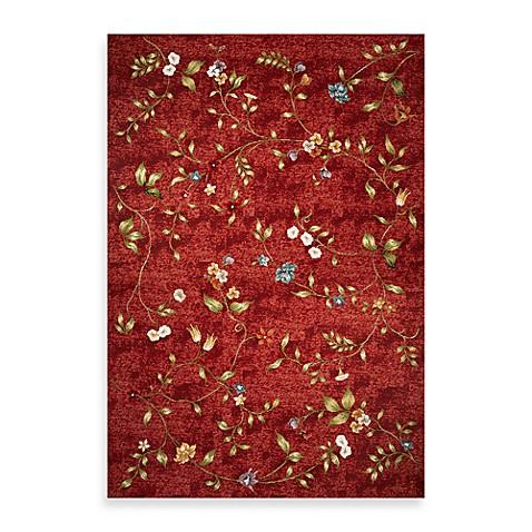 KAS Horizon Red Floral Indoor Outdoor Rugs Bed Bath & Beyond