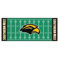 """University of Southern Mississippi Football Field 72"""" x 30"""" Runner"""