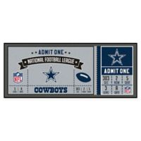 NFL Dallas Cowboys Game Ticket Carpeted Runner Mat