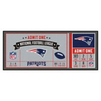 NFL New England Patriots Game Ticket Carpeted Runner Mat