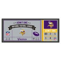 NFL Minnesota Vikings Game Ticket Carpeted Runner Mat