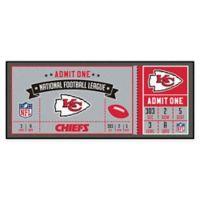 NFL Kansas City Chiefs Game Ticket Carpeted Runner Mat