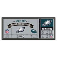 NFL Philadelphia Eagles Game Ticket Carpeted Runner Mat