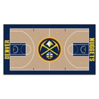 """NBA Denver Nuggets Basketball Court 54"""" x 30"""" Runner"""