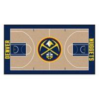 """NBA Denver Nuggets Basketball Court 44"""" x 24"""" Runner"""