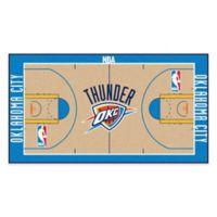 "NBA Oklahoma City Thunder Basketball Court 54"" x 30"" Runner"