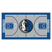 "NBA Dallas Mavericks Basketball Court 54"" x 30"" Runner"