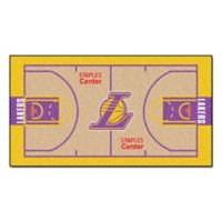 """NBA Los Angeles Lakers Basketball Court 44"""" x 24"""" Runner"""