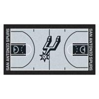 "NBA San Antonio Spurs Basketball Court 54"" x 30"" Runner"