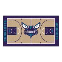 """NBA Charlotte Hornets Basketball Court 54"""" x 30"""" Runner"""