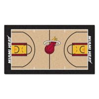"NBA Miami Heat Basketball Court 54"" x 30"" Runner"