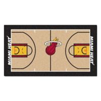 "NBA Miami Heat Basketball Court 44"" x 24"" Runner"