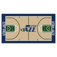 "NBA Utah Jazz Basketball Court 44"" x 24"" Runner"