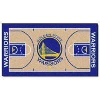 """NBA Golden State Warriors Basketball Court 44"""" x 24"""" Runner"""