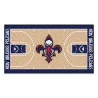 """NBA New Orleans Pelicans Basketball Court 44"""" x 24"""" Runner"""