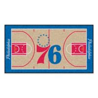 """NBA Philadelphia 76ers Basketball Court 44"""" x 24"""" Runner"""