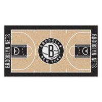 """NBA Brooklyn Nets Basketball Court 54"""" x 30"""" Runner"""