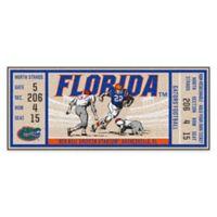 University of Florida Game Ticket Carpeted Runner Mat
