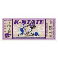 Kansas State University Game Ticket Carpeted Runner Mat