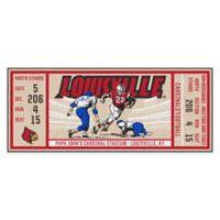 University of Louisville Game Ticket Carpeted Runner Mat