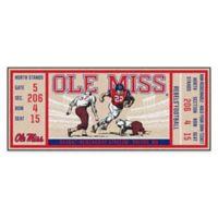 University of Mississippi Game Ticket Carpeted Runner Mat