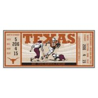 University of Texas Game Ticket Carpeted Runner Mat