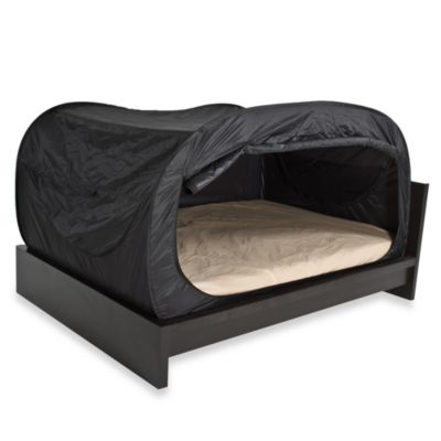 buy privacy pop queen bed tent in black from bed bath beyond. Black Bedroom Furniture Sets. Home Design Ideas