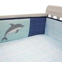 Lambs & Ivy® Ocean Blue 4-Piece Crib Bumper Set in Blue/White