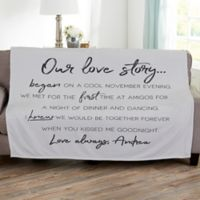 Our Love Story 50-Inch x 60-Inch Fleece Throw Blanket