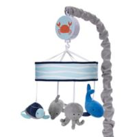 Lambs & Ivy® Ocean Blue Musical Mobile in Blue/White