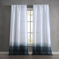 French Connection Olivia 96-Inch Rod Pocket Window Curtain Panel Pair in Indigo