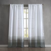 French Connection Olivia 84-Inch Rod Pocket Window Curtain Panel Pair in Charcoal