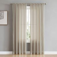 French Connection Rosa 84-Inch Rod Pocket/Back Tab Window Curtain Panel Pair in Sand