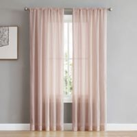 French Connection Rosa 96-Inch Rod Pocket/Back Tab Window Curtain Panel Pair in Rose Smoke