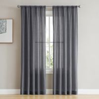 French Connection Rosa 84-Inch Rod Pocket/Back Tab Window Curtain Panel Pair in Navy