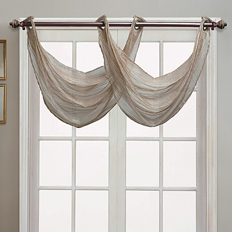 waterfall valance pattern buy waterfall valance from bed bath beyond 6531