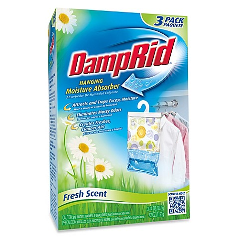 image of DampRid® Hanging Moisture Absorber in Fresh Scent (Set of 3)