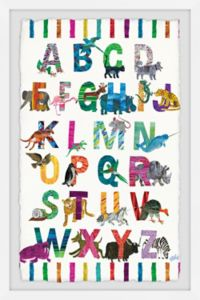 Marmont Hill Alphabet Jungle 30-Inch x 45-Inch Framed Wall Art