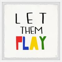 Marmont Hill Let Them Play 12-Inch Squared Framed Wall Art