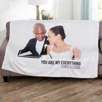 Wedding Photo Personalized 50x60 Fleece Blanket