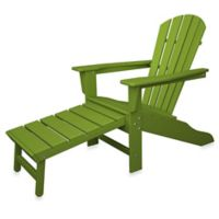 POLYWOOD® South Beach Ultimate Adirondack Chair with Ottoman in Lime