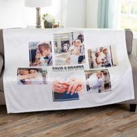 Wedding 6 Photo Collage Personalized 50x60 Fleece Blanket