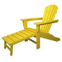 POLYWOOD® South Beach Ultimate Adirondack Chair with Ottoman in Lemon